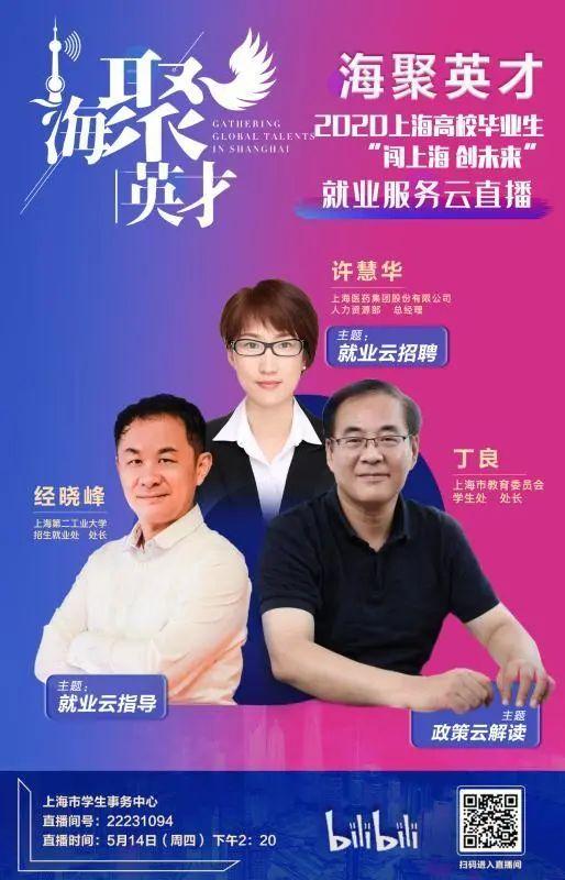 """2020上海高校毕业生""""闯上海 创未来""""就业服务云直播.jpg"""